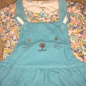 Carter's Matching Sets - Carter's Overall Dress